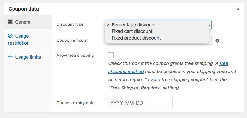 coupon data changed for woocommerce 3