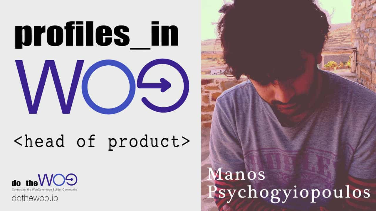 Profiles in Woo Manos Psychogyiopoulos