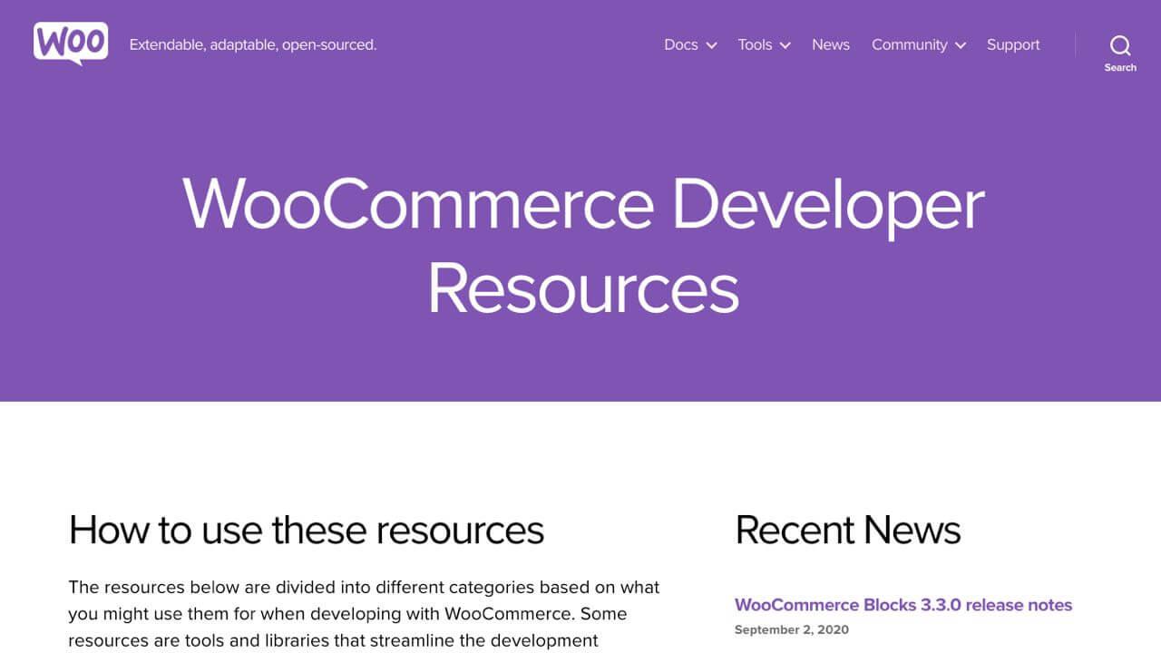 WooCommerce Developer Resources Portal