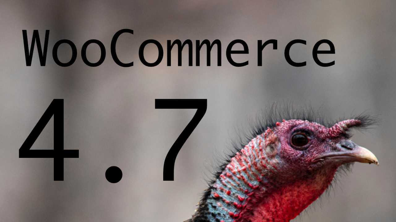 WooCommerce 4.7, Minor Release Before Black Friday