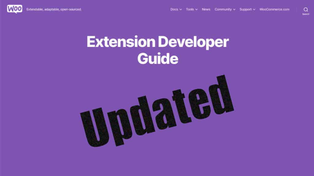 Woo extension developer guide updated